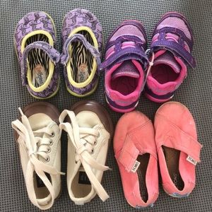 Lot of 4 Girls Size 5 Shoes